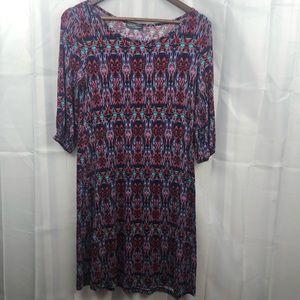 Market and Spruce Printed Half Sleeve Dress